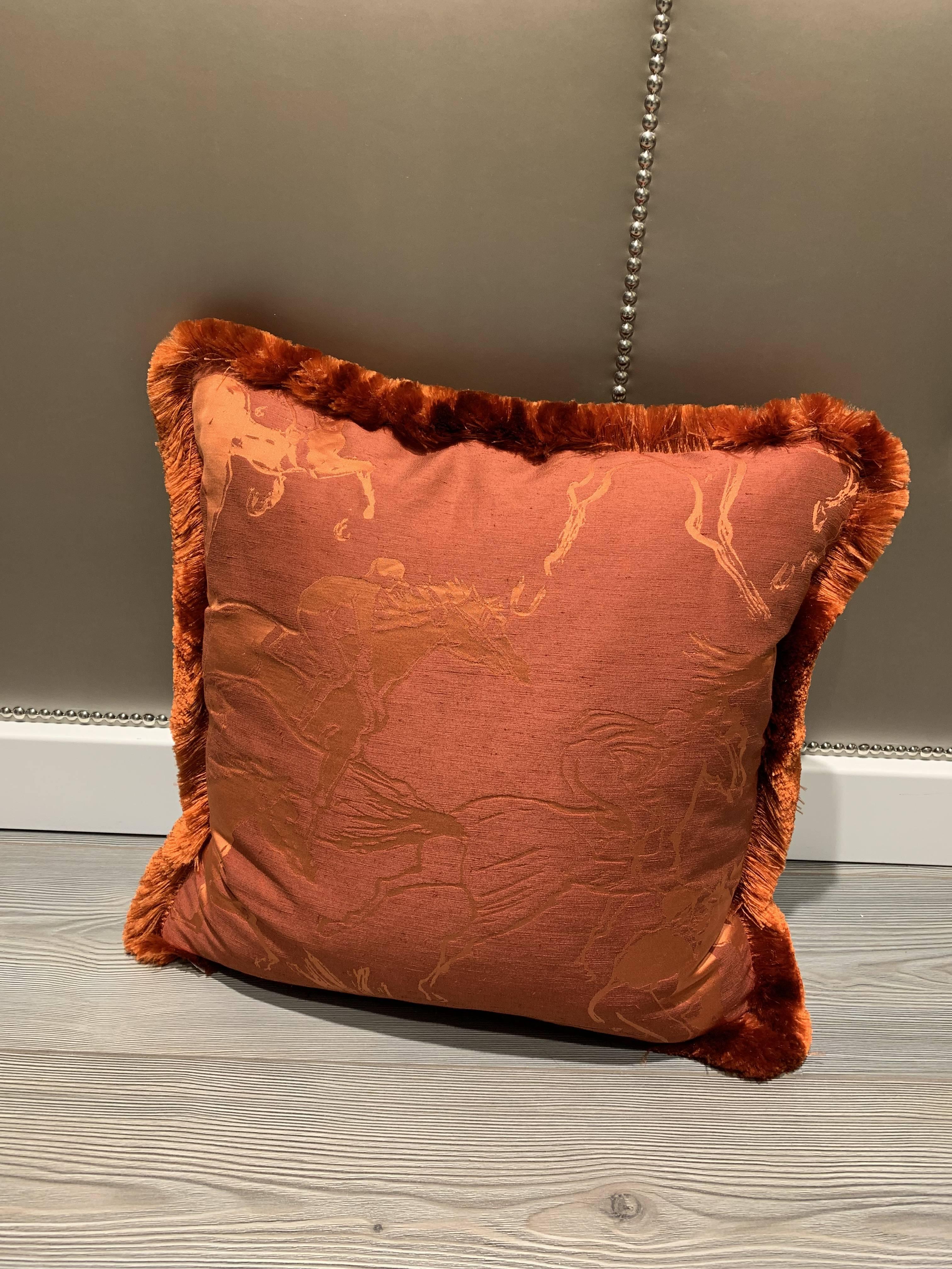 Cuscini Hermes.Cuscini Cuscino Con Tessuto Hermes